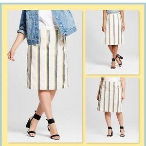 Who what wear striped midi skirt EUC! 12